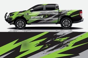 gráfico de embrulho de carro fundo abstrato de corrida para adesivo e vinil vetor