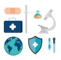 conjunto de ícones médicos de saúde