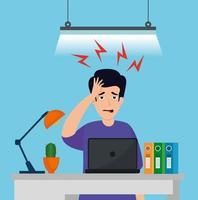 homem estressado no local de trabalho