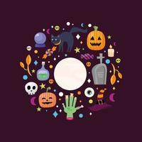 banner de celebração de halloween