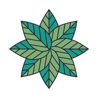ícone decorativo de lindo jardim de flores