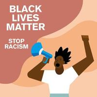 vidas negras são importantes e acabe com banners de racismo com os punhos erguidos vetor