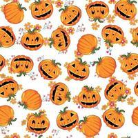 fofa doce abóbora padrão sem emenda de halloween