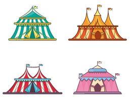 tendas de circo em conjunto linear simples