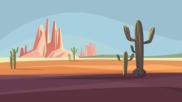 paisagem do deserto do arizona vetor