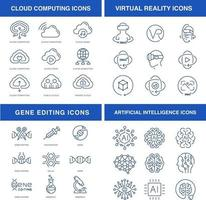 conjunto de ícones de tecnologias modernas
