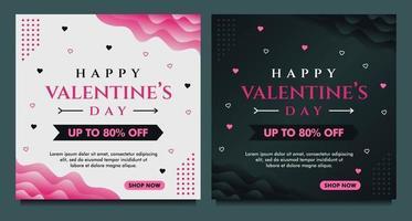 feliz dia dos namorados banner de venda, modelo de postagem de mídia social com fundo escuro e cinza