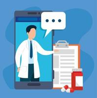 tecnologia online de medicina com smartphone e medicina