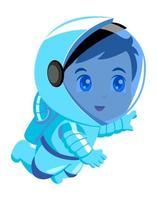 desenho fofo de um astronauta