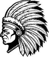 ilustração de nativos americanos apache vetor