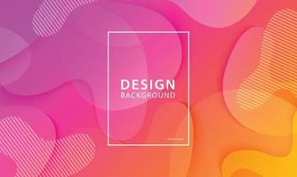 fundo de design de banner de forma fluida. modelo gradiente geométrico líquido de laranja e rosa. vetor