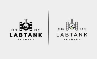 ilustração de desenho vetorial de logotipo de tanque de laboratório