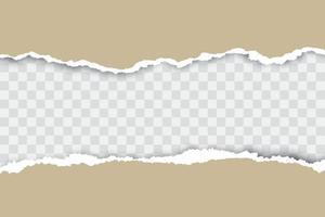 fundo de papel rasgado marrom com lugar para o seu texto. vetor