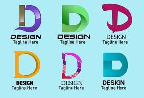 letra d criativa design de logotipo, ícone e símbolo elemento de modelo de design de logotipo de vetor ilustração vetorial.
