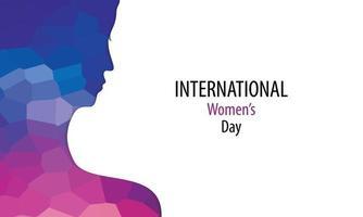 pôster do dia internacional da mulher com silhueta de mulher vetor
