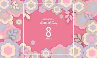 pôster do dia internacional da mulher com flores vetor
