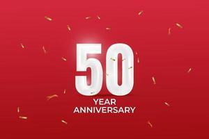 Modelo de vetor de aniversário de 50 anos