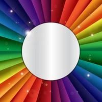 banner de feriado de celebração de arco-íris de vetor brilhante