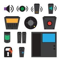 vetor simples conjunto de ícones de detectores