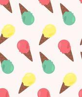 padrão sem emenda de vetor de sorvetes