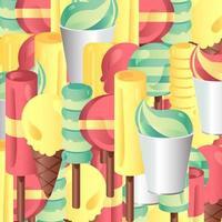 conjunto de vetores de sorvetes