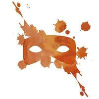 máscara de aquarela de vetor com respingo