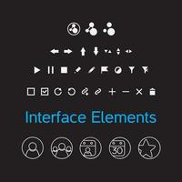 conjunto de elementos de interface de vetor, ícones de kit de interface do usuário vetor