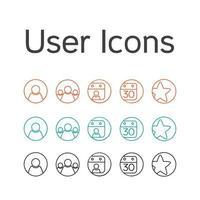 ícones de usuário de vetor