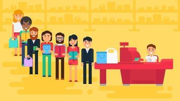 ilustração do conceito de compras