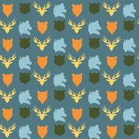 padrão sem emenda de vida selvagem
