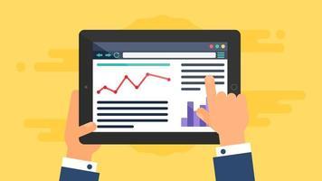modelo da web de site para tablet ou formulário de artigo