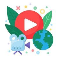 ícone de conceito de transmissão social ao vivo vetor