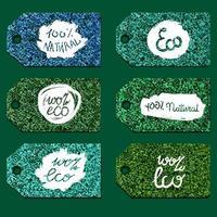 letras ecológicas naturais