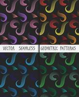 conjunto de padrões sem emenda geométricos coloridos abstratos