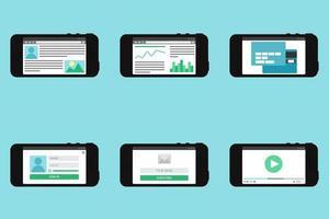 formulário de modelo da web em smartphone
