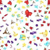 feliz natal padrão sem emenda vetor