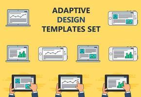 modelo da web de site adaptável ou formulário de artigo