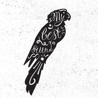 letras desenhadas à mão vintage em animal de estimação