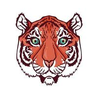 tigre de arte em linha