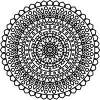 mandala com ornamentos vetor