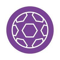 ícone de estilo de bloco de bola de futebol vetor