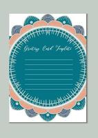 cartão modelo vintage mandala vetor
