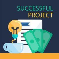 banner de projeto de sucesso