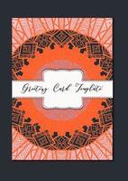 mandala oriental template card