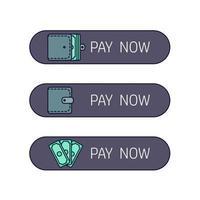 botão de pagamento na web