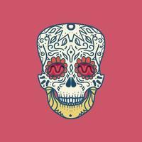 caveira mexicana detalhada vetor