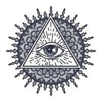 todos vendo olho no triângulo e mandala
