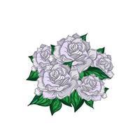 buquê de rosas de casamento desenhado à mão