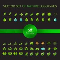 ícones de ecologia, logotipo da natureza