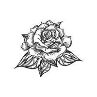 rosa de casamento desenhada à mão